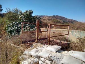 Ventura CA field in desert (brownfield site)
